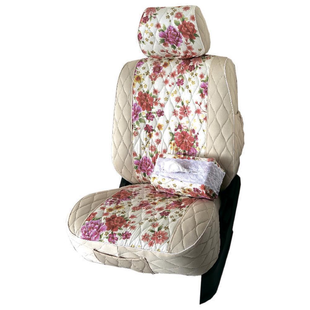 【葵花】量身訂做-汽車椅套-布料-花漾排汗A-休旅車-6-8人座款1+2+3排