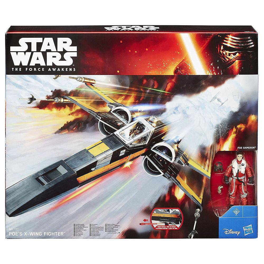 孩之寶Hasbro 星際大戰7 原力覺醒 3.75吋 交通工具組 波·戴姆倫的X翼戰機