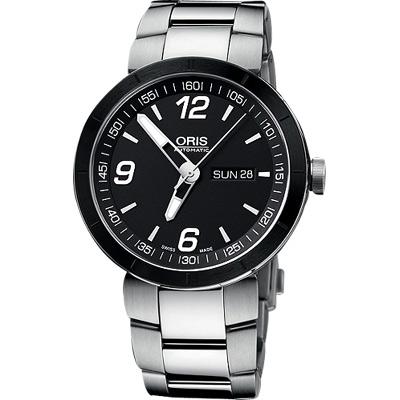 ORIS TT1 Day Date 極速機械腕錶-黑/43mm