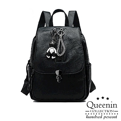 DF Queenin日韓 - 伴遊東京街頭小熊吊墜後背包-共3色