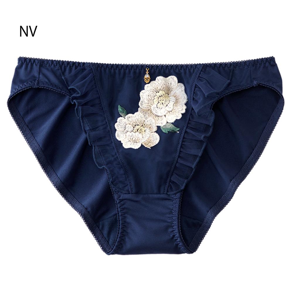 aimerfeel 淑女刺繡花卉內褲-海軍藍
