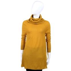 MARELLA 黃色高領設計長版毛衣