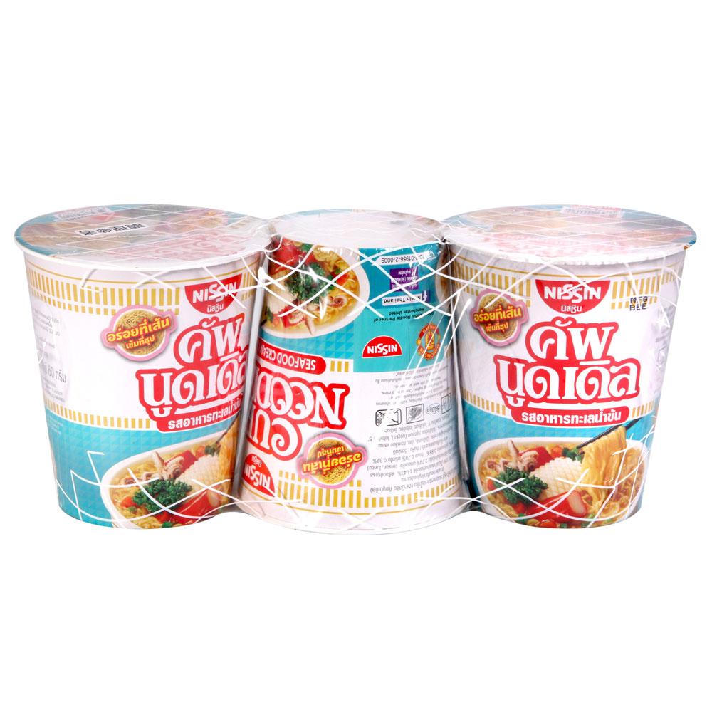 NISSIN日清 奶油海鮮風味杯麵3入(180g)