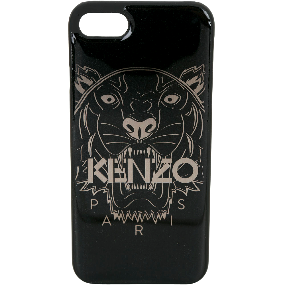 KENZO 3D Tiger iPhone 7 / 8 虎頭圖案塑料手機殼(黑色)