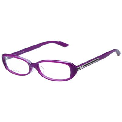 GUCCI-時尚光學眼鏡(紫色/紅色)