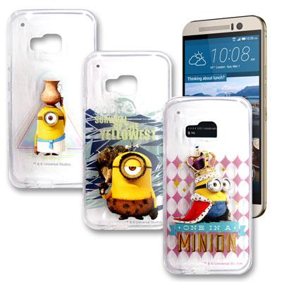 黃色小小兵正版 HTC One M9 透明手機軟殼(情境篇)