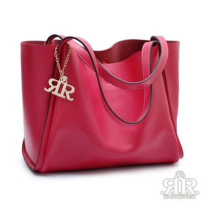 2R-芬芳牛皮Paris慵懶巴黎包-甜莓紅