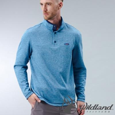Wildland 荒野 0A32692-45地中海藍 男 RE麻花時尚保暖上衣