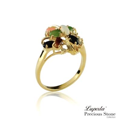 大東山珠寶 開運五色天然寶石戒指