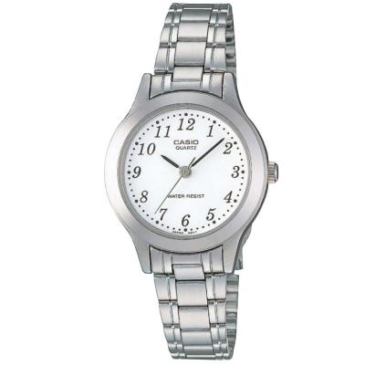 CASIO 時尚精緻小巧淑女腕錶(:LTP-1128A-7B)-數字白面/28mm