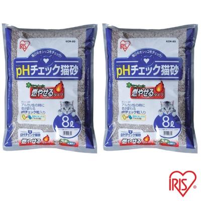 日本IRIS 健康檢查 尿道結石專用貓砂 8L (KCM-80) x 2包