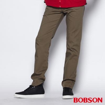 BOBSON 男款高腰膠原蛋白直筒褲(卡其72)