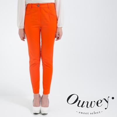 OUWEY歐薇-亮彩棉質激瘦窄管褲