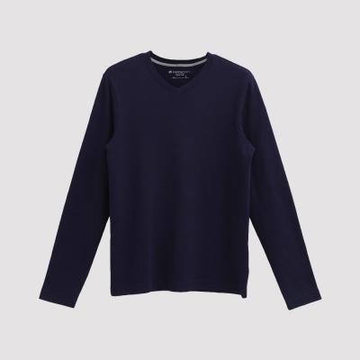 Hang Ten - 男裝 - 經典V領多彩T恤 - 藍