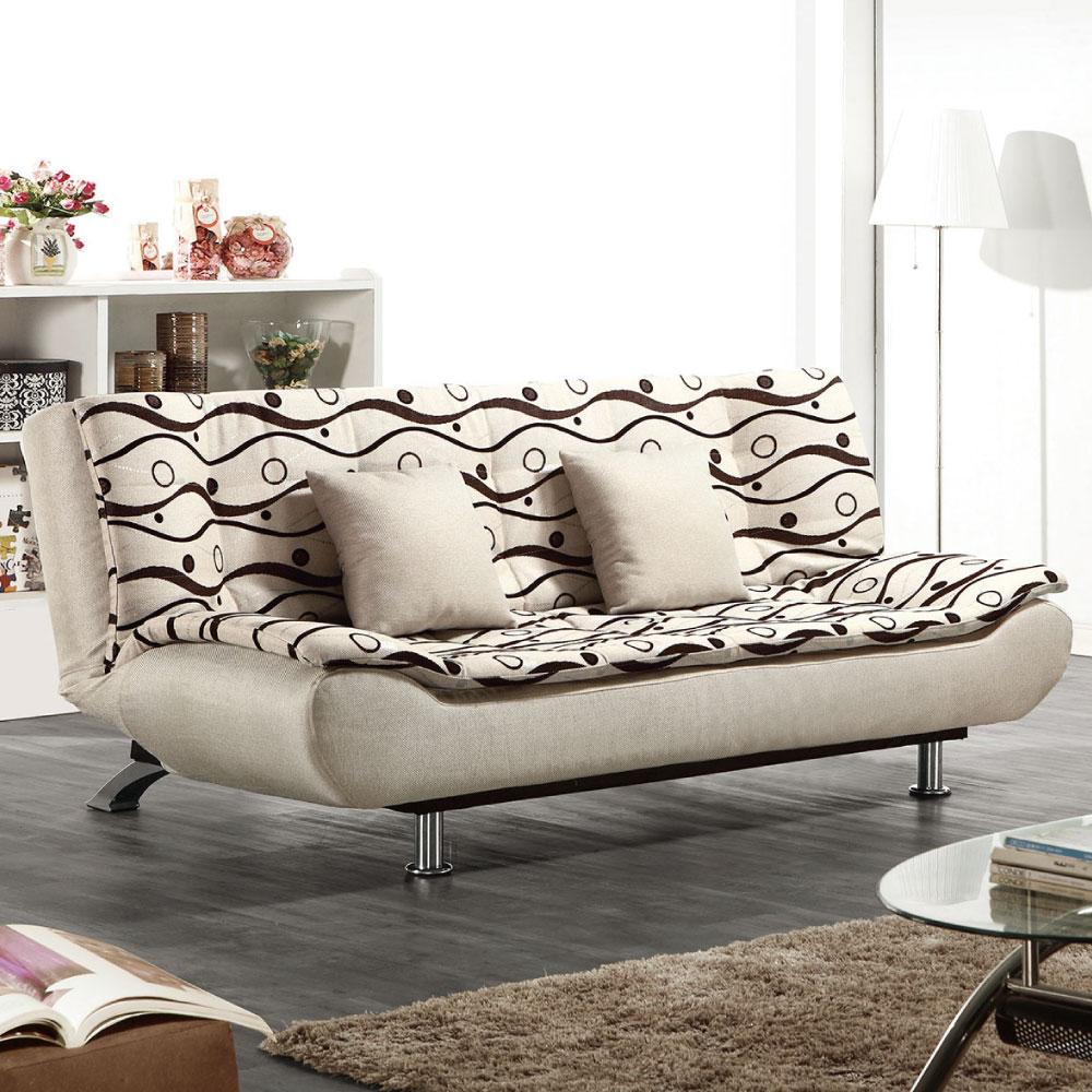 品家居 尤安多功能布面雙人沙發床