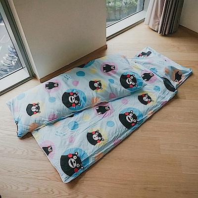 cheri 熊本熊-藍 舖棉兩用小睡袋