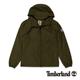 Timberland 男款軍綠色素面防水夾克