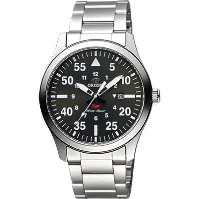 ORIENT 東方錶 SP 系列 飛行運動石英錶-綠x銀/42mm