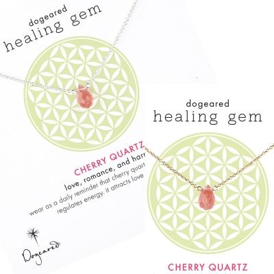 Dogeared 粉晶 healing gem 許願項鍊 金色 銀色 對組 附原廠盒