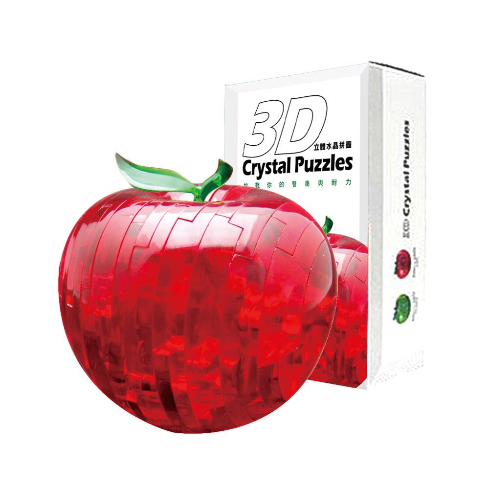 《立體水晶拼圖》3D Crystal Puzzles蘋果(二色可選)