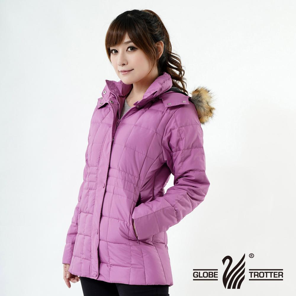 【遊遍天下】女款JIS90%羽絨防風防潑水方格保暖羽絨外套A062淺紫