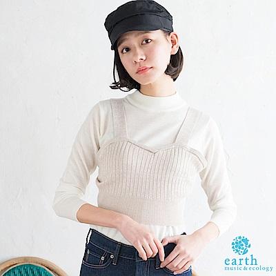 earth music SET ITEM 金蔥羅紋背心+微高領針織上衣