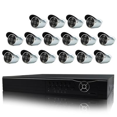 奇巧 16路AHD高清遠端監控套組(雙模切換SONY四陣列130萬攝影機x16)