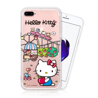 Hello Kitty iPhone 7/8 plus 彩繪空壓手機鑽殼 - 樂...