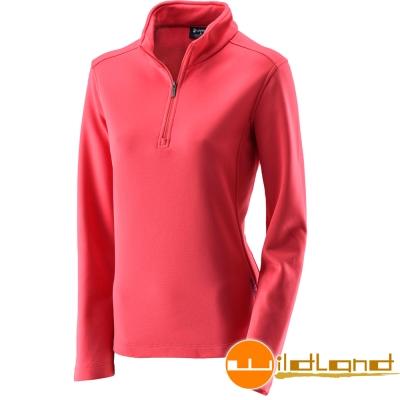 Wildland 荒野 0A22605-17嫣紅色 女 抗 菌除臭保暖上衣