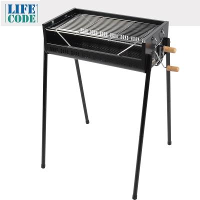 LIFECODE 立式烤肉架-烤網可調高度-寬65cm