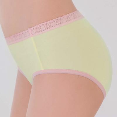 瑪登瑪朵-2015SS 低腰寬邊三角褲M-XL(柔嫩黃)