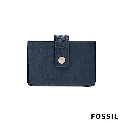 FOSSIL MINI WALLET真皮輕巧小夾-深海藍