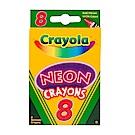 美國 Crayola繪兒樂 彩色蠟筆霓虹色8色(3Y+)