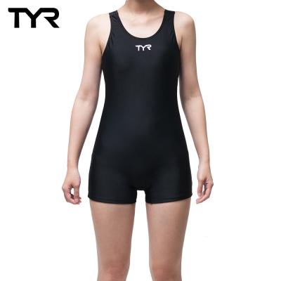 美國TYR Solid RacerBack Boyleg修身款連身四角泳裝