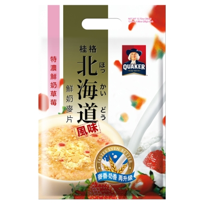 桂格 北海道特濃鮮奶草莓麥片(30gx12包)