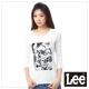 Lee 長袖T恤 黑白照片印刷 -女款(米白
