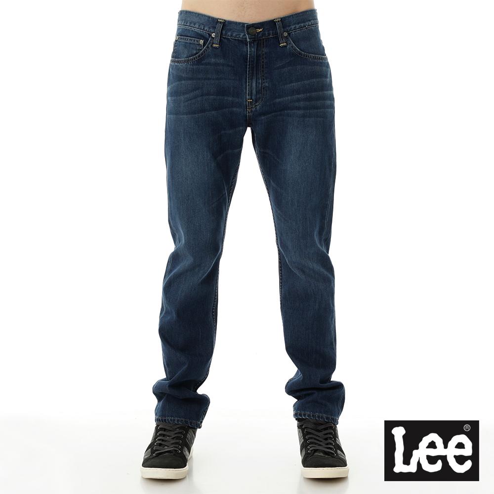 Lee 牛仔褲 726 中腰標準小直筒-男款-中藍
