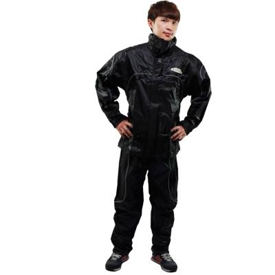 [快]天龍牌 新重裝上陣F 1 機車型風雨衣-黑色+通用鞋套