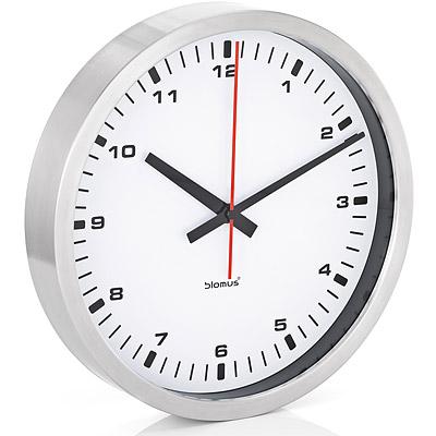 BLOMUS-40-cm-無聲數字時鐘-白