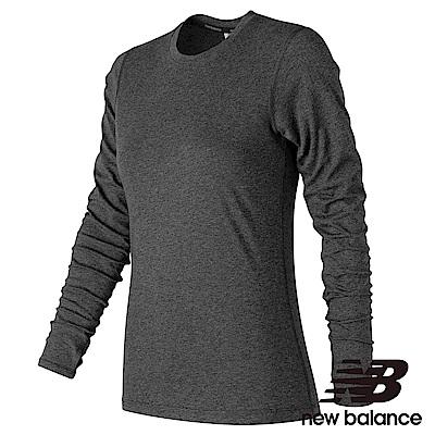New Balance 花紗長袖T恤 AWT73127BKH 女性 黑色