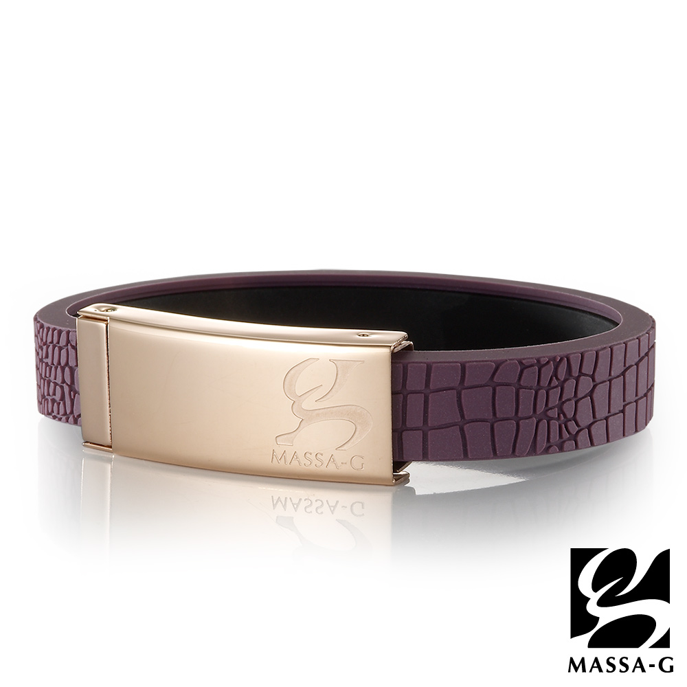 MASSA-G 【Vintage金典風尚】鍺鈦手環(木槿紫)