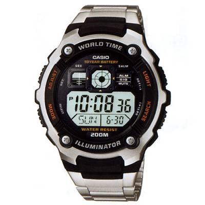 CASIO深海潛將數位電子不銹鋼錶AE-2000WD-1A