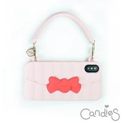 Candies Matelasse系列晚宴包(粉) iPhone X-附白色短鍊