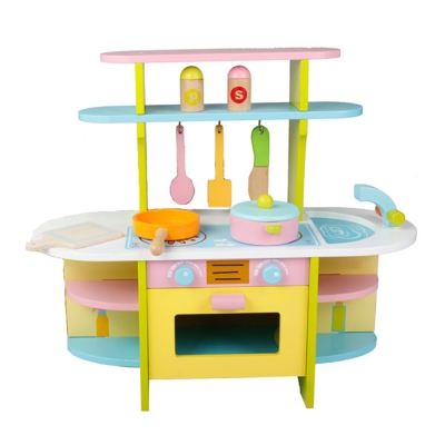 木頭玩具-木質家家酒-多彩廚具台-15028-3Y