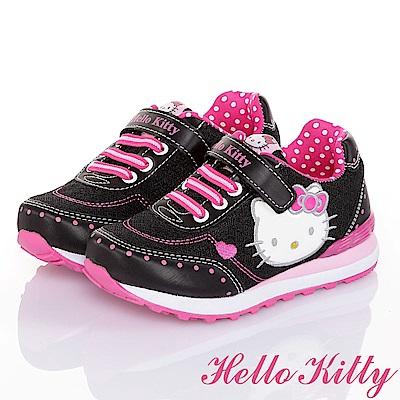 HelloKitty透氣抗菌防臭慢跑童鞋-黑(17-23cm)