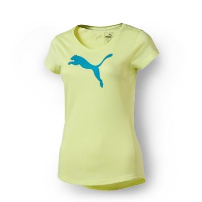 PUMA 女性訓練系列麻花大跳豹短袖T恤-螢光粉黃(麻花)