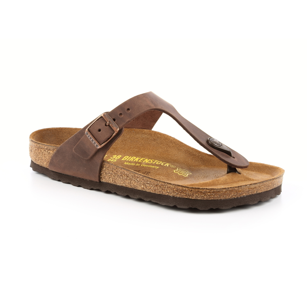 勃肯BIRKENSTOCK 743831吉薩 夾腳拖鞋(古樸褐色)