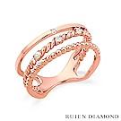 RUIEN DIAMOND 韓國輕珠寶 飾品 配件14K 玫瑰金 戒指 JR5758
