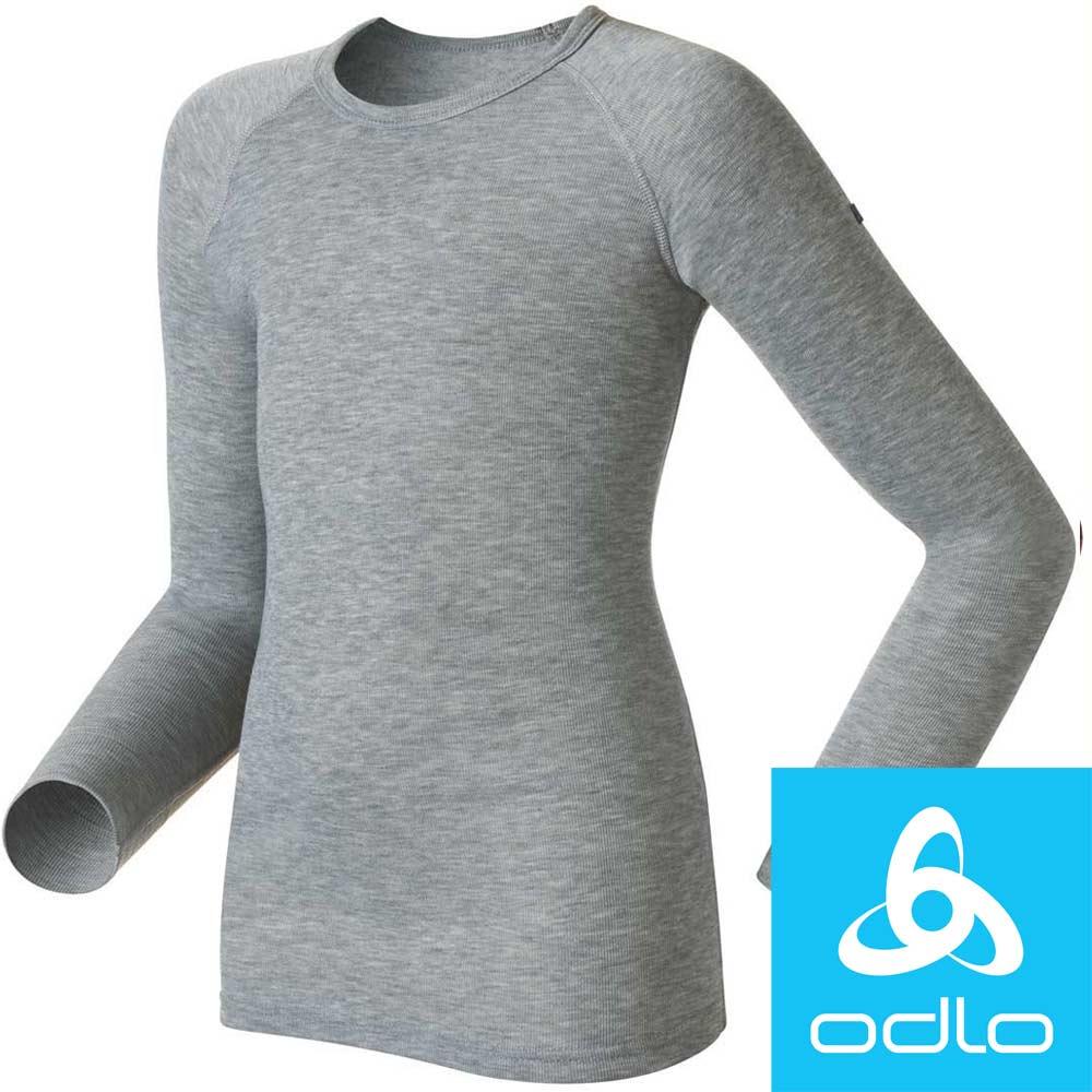 瑞士【Odlo】10459 兒童銀離子圓領保暖排汗衣(麻灰)