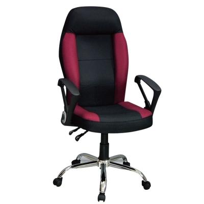 Bernice-伊格人體工學電腦辦公椅-黑紅-48x55x124cm